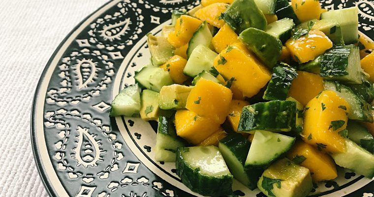 Mango, cucumber and avocado salad