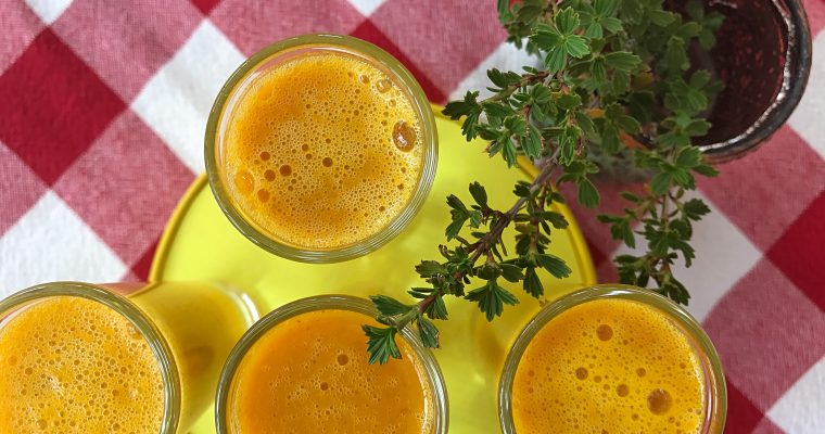 Turmeric and orange health shot