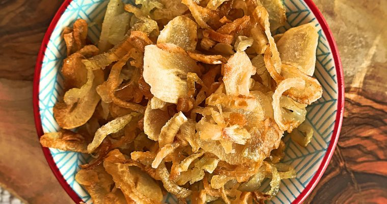 Crispy fried onion and garlic bits – paleo and whole 30