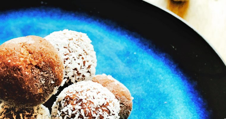 Coconut chocolate energy balls – gluten, wheat, dairy and refined sugar free