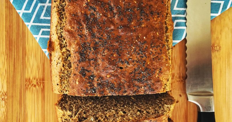 Gluten free seed loaf – gluten, wheat, dairy and refined sugar free