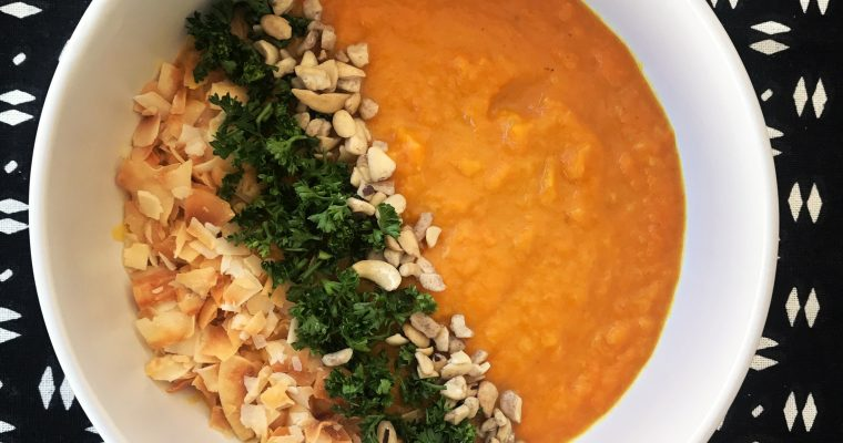 Coconut and ginger carrot soup