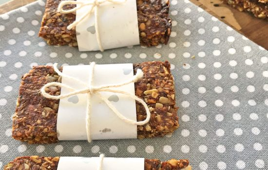 "Grain free baked ""granola"" bars – gluten, wheat, dairy and refined sugar free"