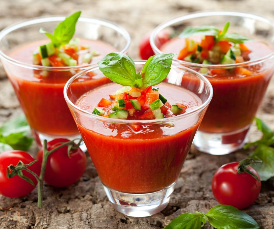 Spicy watermelon gazpacho