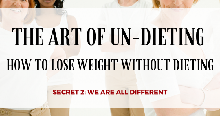 THE ART OF UN-DIETING: HOW TO LOSE WEIGHT WITHOUT DIETING