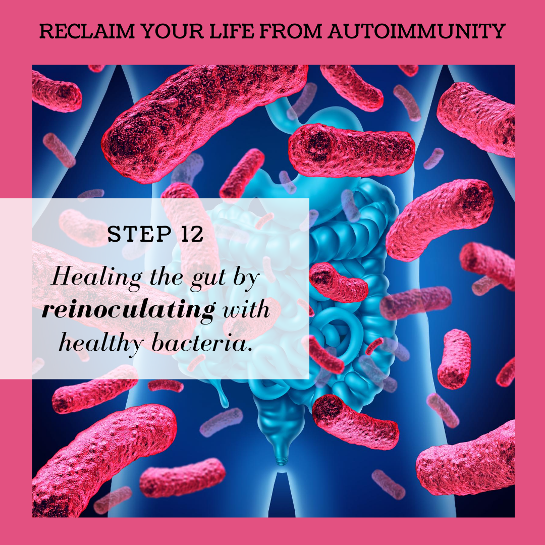 STEP 12: HEALING THE GUT BY REINOCULATING WITH HEALTHY BACTERIA
