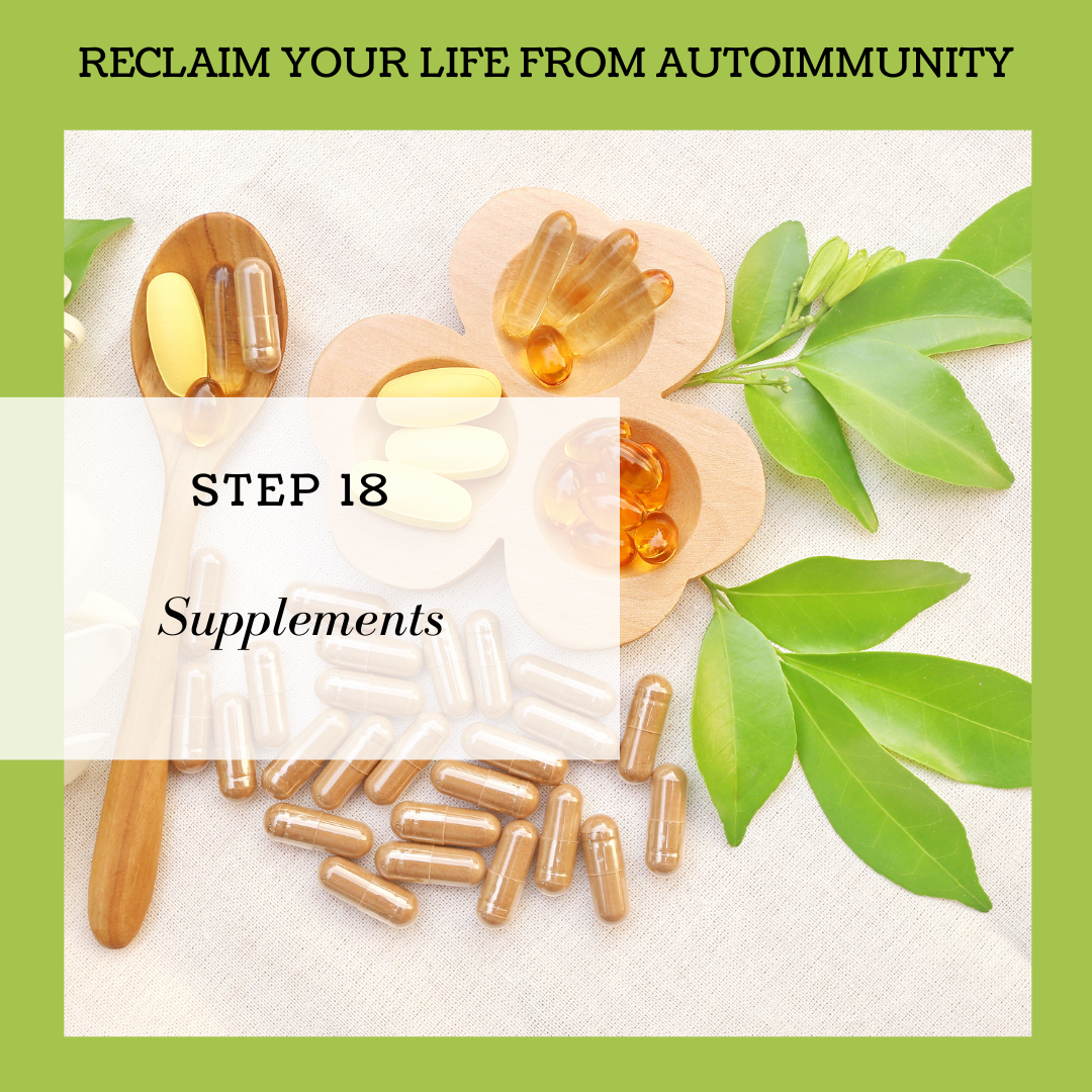 STEP 18: SUPPLEMENTS