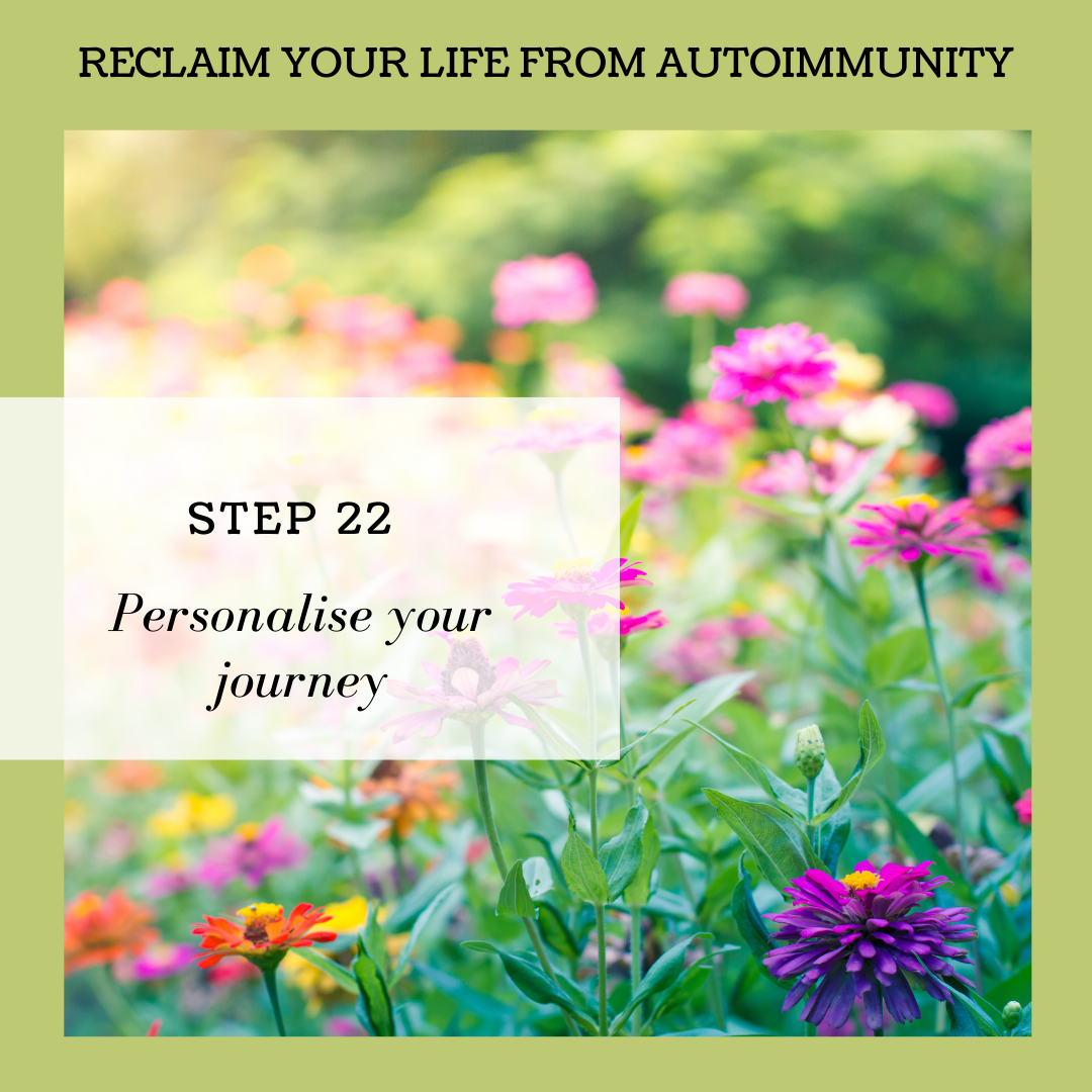 STEP 22: PERSONALISE YOUR JOURNEY